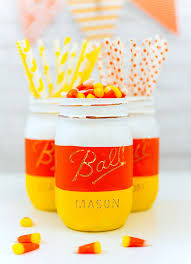 candy corn mason jars for halloween mason jar crafts love