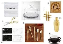 home decor wishlist gold black white marble theme crate u0026 barrel