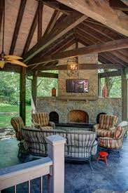 Covered Porch 2014 Covered Porch With Fireplace U2014 Conrad Construction Company