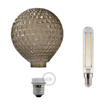 LED Decorative Light bulb with Smoked Diamond Cut 5W E27 Dimmable