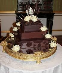chocolate wedding cake created by barry colenso master