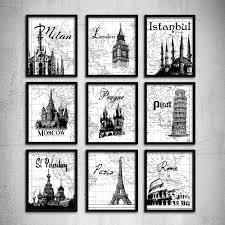 travel art images Interesting ideas travel wall art with best decals on large canvas jpg