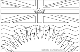 colouring book of flags canada