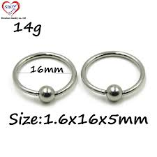 steel lip rings images Showlove 10pcs large size surgical steel captive bead lip rings jpg