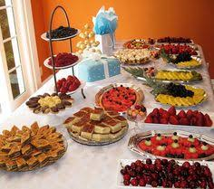 ideas for bridal luncheon bridal shower food display made by me food