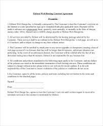 hosting agreement templates 11 free word pdf format download