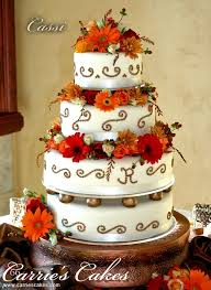fall color cakes carrie u0027s wedding cakes