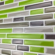 Peel And Stick Tiles For Kitchen Backsplash Art3d Kitchen Backsplash Peel Stick Tile Smart Brick Green 10
