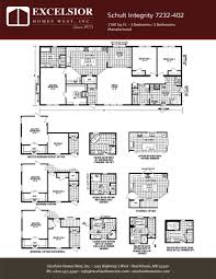 schult modular home floor plans schult integrity 7232 402 excelsior homes west inc