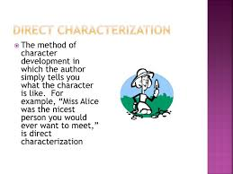 ppt characterization and steal method powerpoint presentation