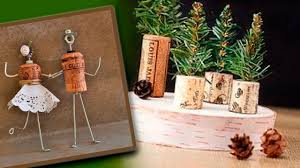 diy christmas decor crafts from wine corks youtube
