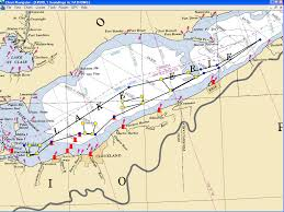 Map Of Michigan Lakes Coast Guard Firing Ranges