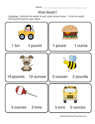 weight worksheets have fun teaching
