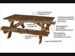 Make A Picnic Table Free Plans by How To Build A Strong Picnic Table Free Plans 084 Youtube