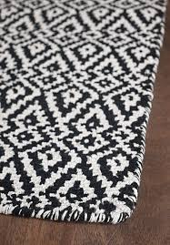 White Cotton Rug Oslo Black And White Eco Cotton Loom Hooked Rug Hook U0026 Loom