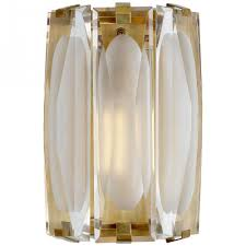 castle peak large bath sconce in soft brass with ks 2062sb cg