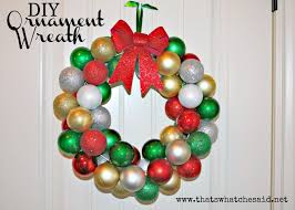 that s what che said diy ornament wreath that s