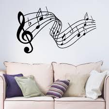 decoative music notes stave vinyl wall sticker living room music decoative music notes stave vinyl wall sticker living room music room bedroom