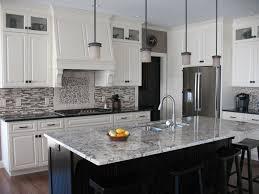 this beautiful contemporary kitchen utilizes alaskan white granite