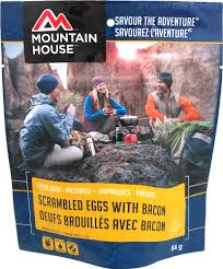 mountain house scrambled eggs with bacon survival rations and