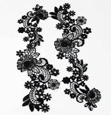black lace trim black floral lace tattoos floral lace