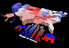 2016 Presidential Election Map 2016 Presidential Election Results Shaded For Margin Of Victory