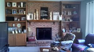 Fireplaces With Bookshelves by Should We Paint Our Wood Bookshelves White And Our Brick Fireplace