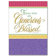religious thank you cards those who are generous thank you card