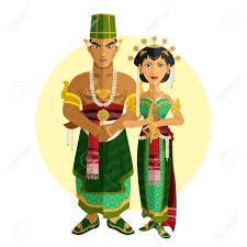 indonesian central java wedding ceremony illustration of
