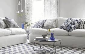 Floral Sofas In Style Moroccan Living Room White Black Floral Pattern Persian Rug Soft