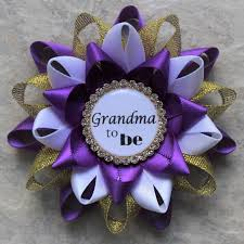 purple baby shower decorations purple and gold baby shower corsages purple baby shower