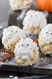 Halloween Cupcakes Ghost Ghost Popcorn Balls The First Year