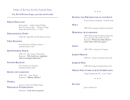 funeral program wording memorial service program exles zoro blaszczak co