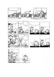 english worksheet peanuts u0026 garfield blank comic strips 1 5