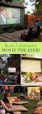 backyard movie theater home outdoor decoration