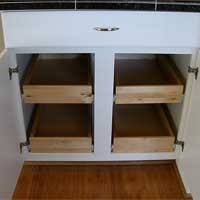 Pretentious Design Sliding Drawers For Kitchen Cabinets Exquisite - Kitchen cabinet drawer rails