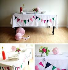 tablecloth decorating ideas party table cover idea bunting tablecloth in ideas for planning