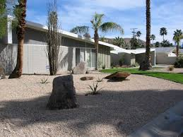 Modern Front Yard Desert Landscaping With Palm Tree And 141 Best Xeriscape U0026 Rock Gardens Images On Pinterest