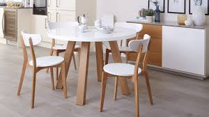 oak kitchen table and chairs white gloss and oak 4 seater dining set round table dennis futures