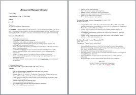 Sample Resume For Kitchen Staff by Restaurant Manager Resume U2013 Sample Resumes
