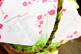 Fan Programs For Weddings Wedding Program Ideas From Local Brides
