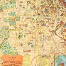 Zip Code Map San Francisco by Vintage San Francisco Gift Wrap Sheet By Cavallini U0026 Co