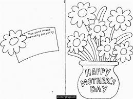 happy mothers day cut out card flowers printable coloring page