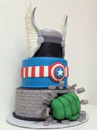 avengers assemble and hulk smash cake between the pages