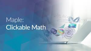 maple clickable math youtube