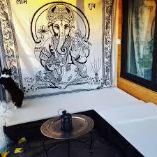 lord ganesha hindu tie dye cotton indian tapestry wall hanging