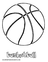 basketball coloring page basketball hoop with the ball basketball