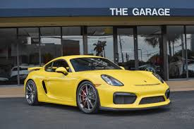 used cayman porsche 2016 used porsche cayman 2dr gt4 at the garage inc serving miami