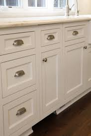 Custom White Kitchen Cabinets Custom White Kitchen Cabinets With Brushed Nickel Hardware