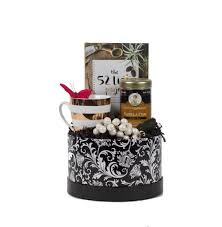 thinking of you gift baskets print box gift for women with porcelain cup organic tea journal